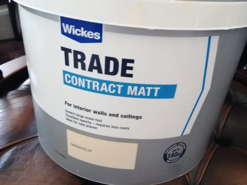 Unused, Unopened Wickes Magnolia Trade Contract Matt Paint 10Ltrs For Sale! Only £12.00