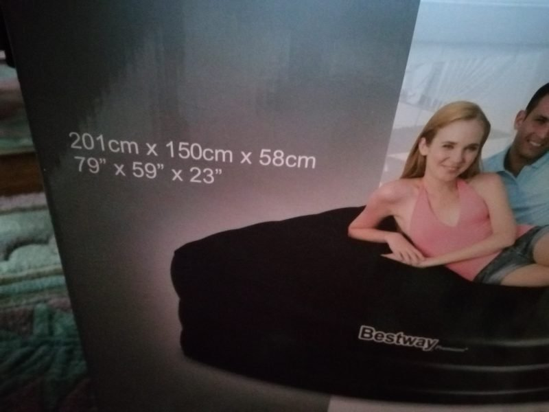 Inflatable King Size Air Bed, Comfort Quest For Sale £60.00. Used Only Once!